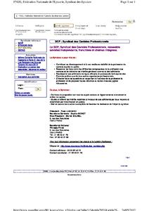 Distribution – Naissance du syndicat des cavistes professionnels