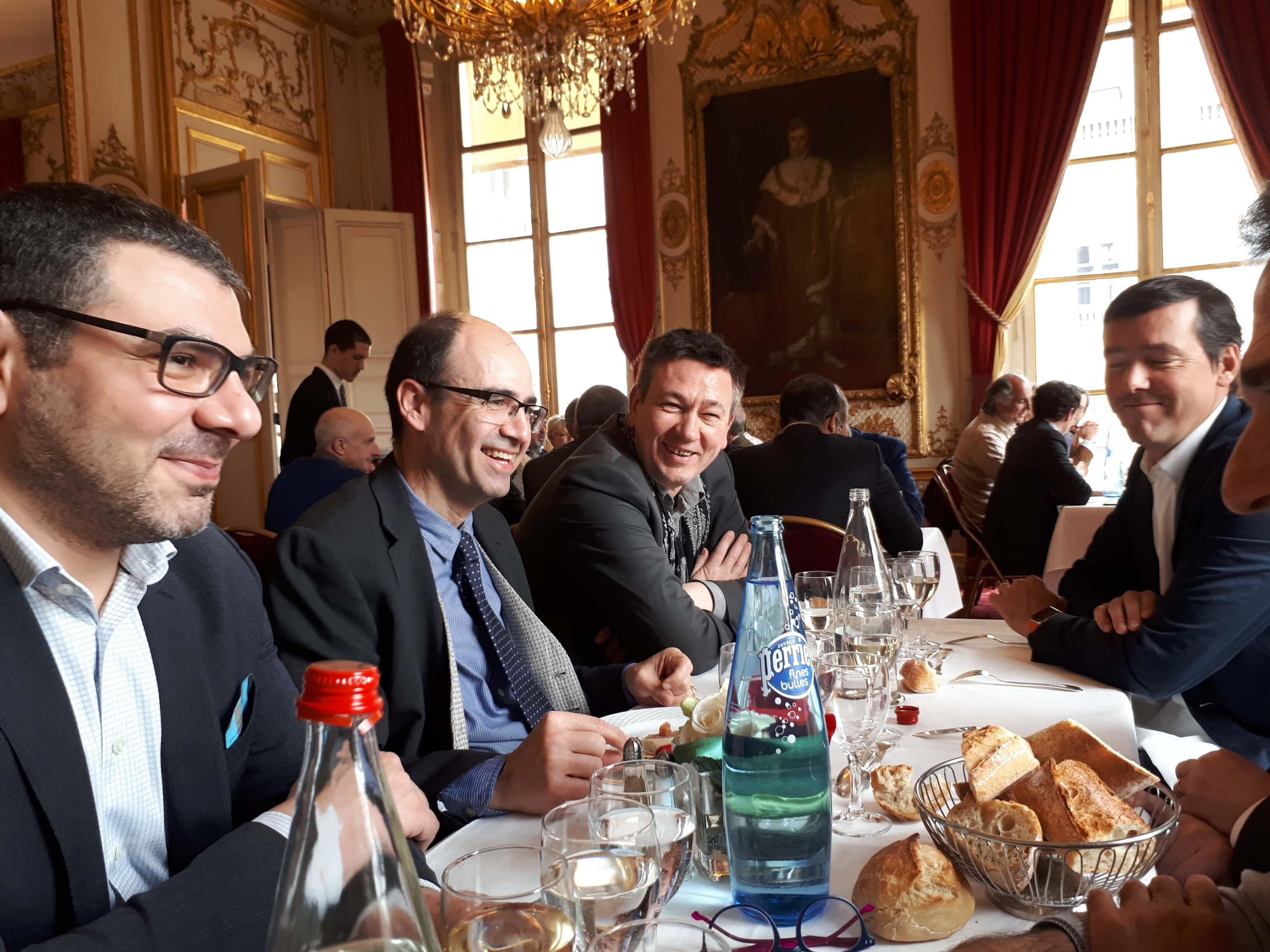 AG SYndicat des Cavistes Professionnels 2018 - MM Toulemonde (Comptoir des Vignes) - E Morgan (Nicolas) - F Naudot (Caves Franck Naudot) - R Mulliez (La Vignery - J Guilluy (La Vignery)