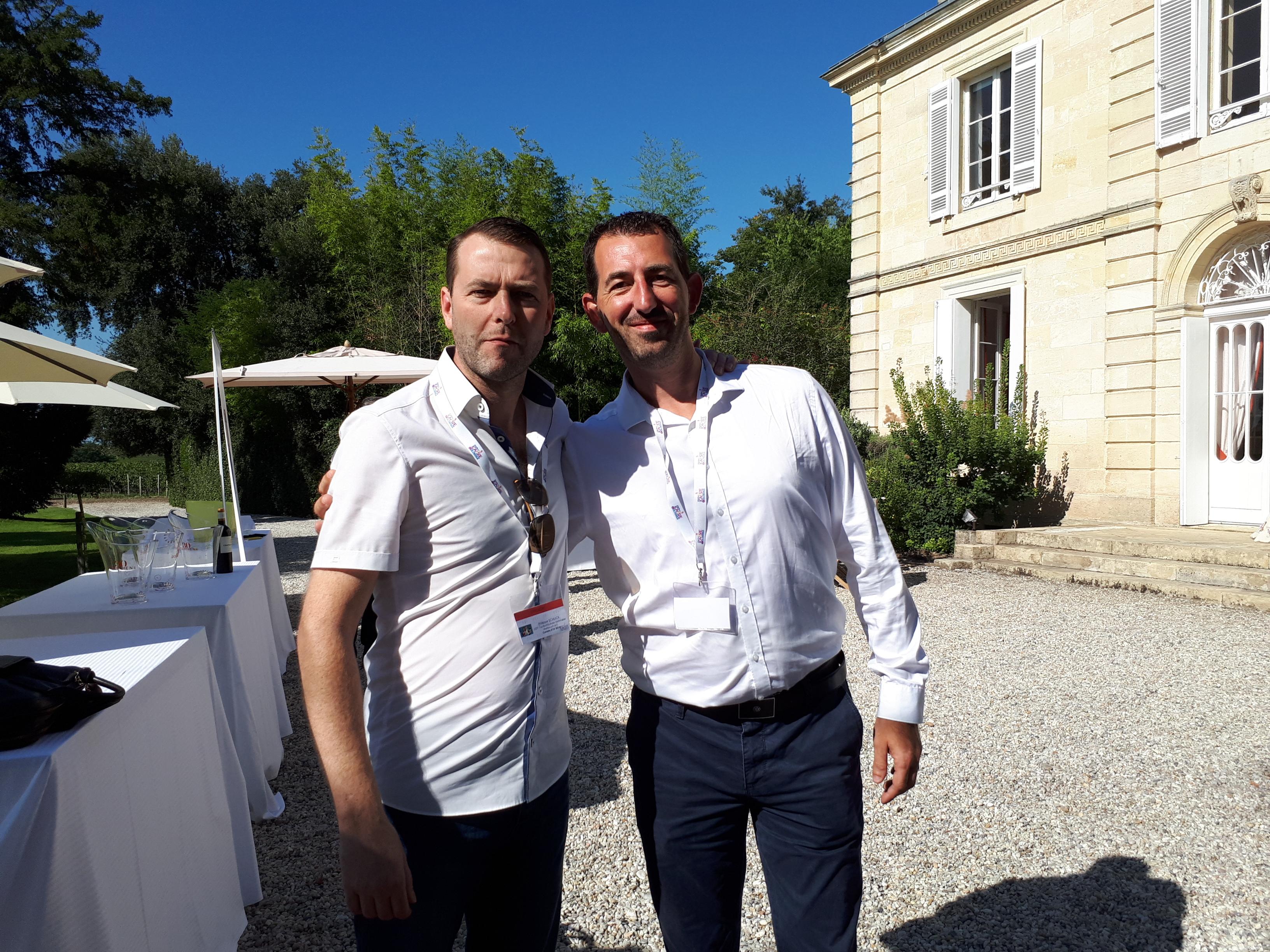 Philippe SCHLICK et Stéphane ALBERTI, Cavistes D'Or 2016 et 2014. Château de Belgrave Septembre 2018, Demi finale du Concours du Meilleur Caviste de France