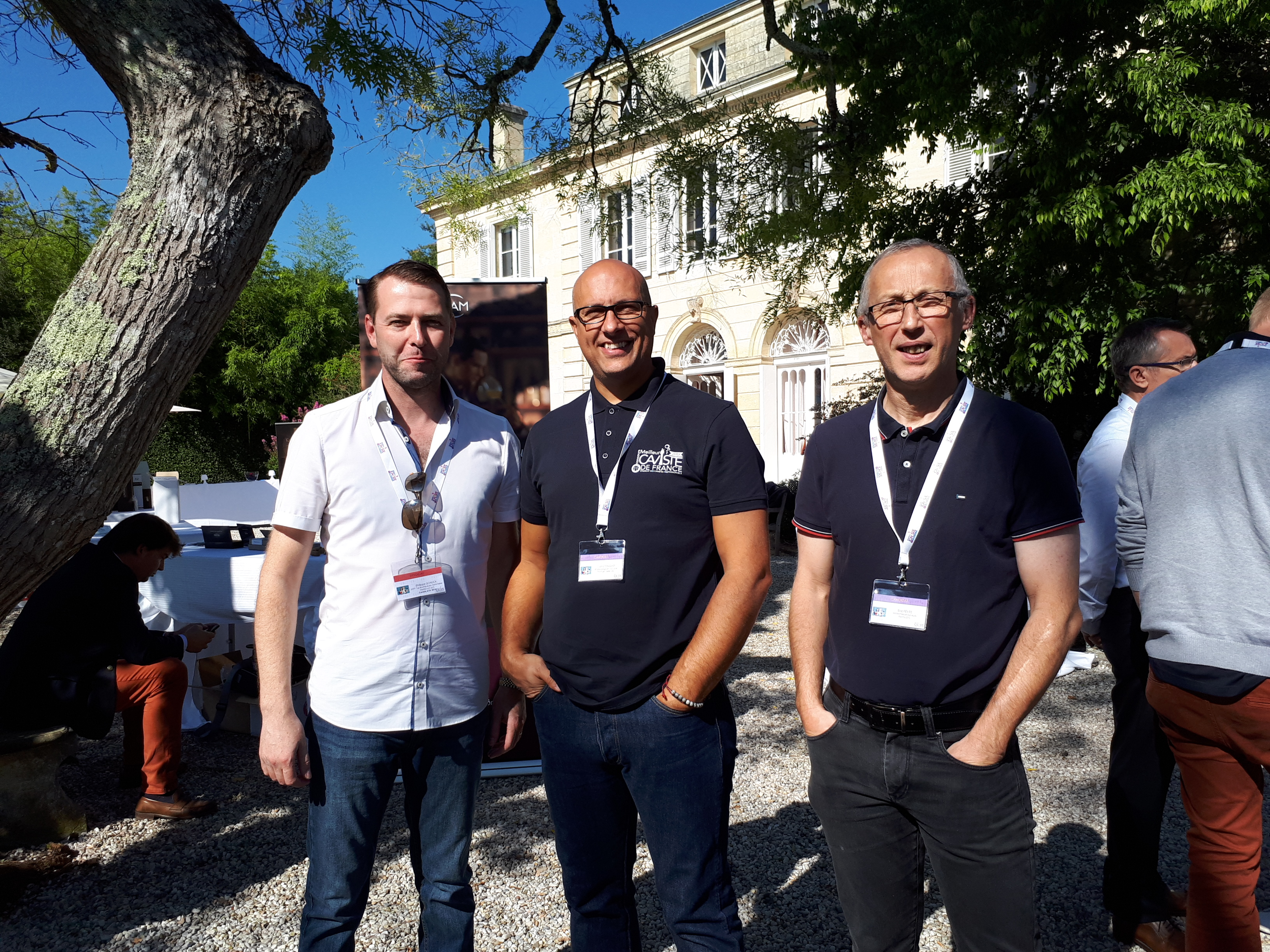 P SCHLICK, C CONIGLIO et E FEVRE - Ch$ateau Belgrave, Demi Finale du Concours du Meilleur Caviste de France 2018