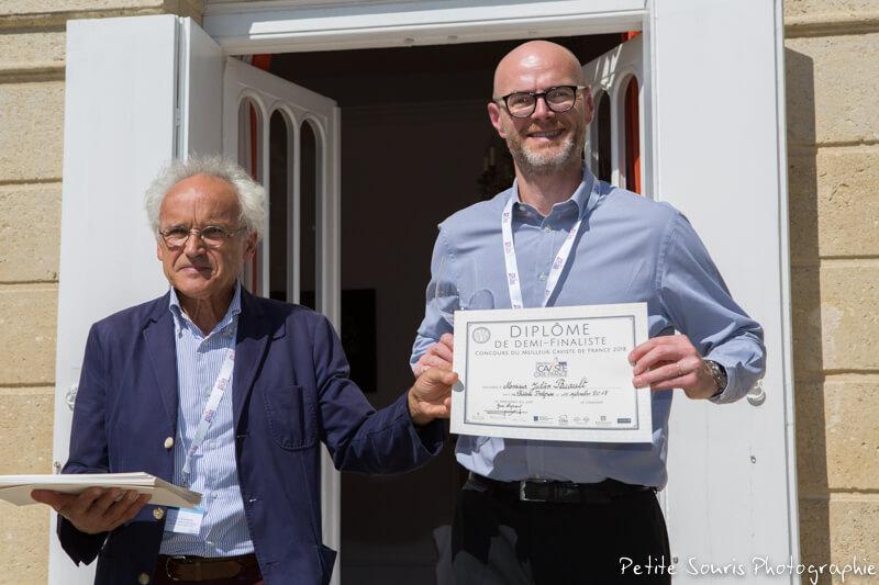 Demi finale Concours Meilleur Caviste de France 2018 Ag Yves Legrand président, Ad Julien RUAULT : Cave Nicolas – 51100 Reims