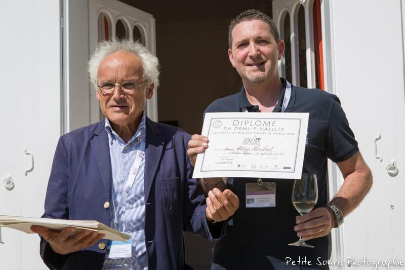 Demi finale Concours Meilleur Caviste de France 2018 Ag Yves Legrand président, Ad Fabrice LOMBART : La Rue du vin – 57350 Stiring-Wendel