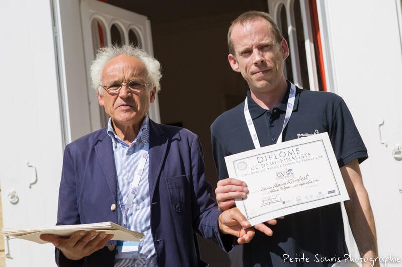 Demi finale Concours Meilleur Caviste de France 2018 Ag Yves Legrand président, Ad Maxime LAMBERT : Caves Bérigny - 76400 Fécamp