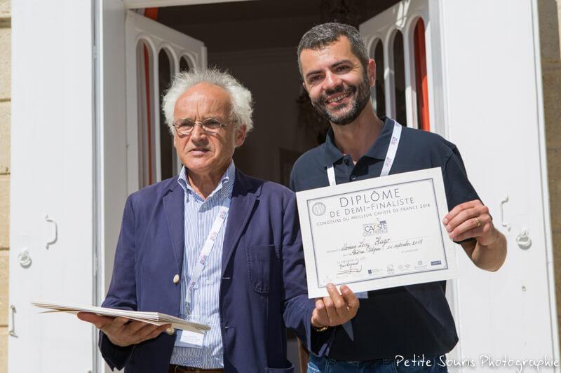 Demi finale Concours Meilleur Caviste de France 2018 Ag Yves Legrand président, Ad Leny HUGOT : Cave Nicolas - 84000 Avignon