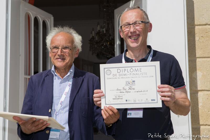 Demi finale Concours Meilleur Caviste de France 2018 Ag Yves Legrand président, Ad Eric FEVRE : Millésimes et Saveurs - 51100 Reims
