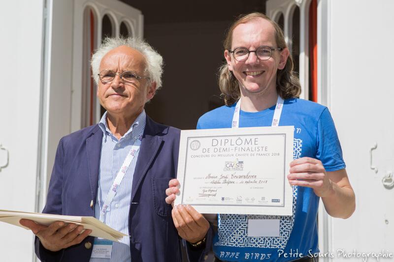 Demi finale Concours Meilleur Caviste de France 2018 Ag Yves Legrand président, Ad Jordi COUWENHOVEN : Le Sourire au pied de l'échelle - 75011 Paris