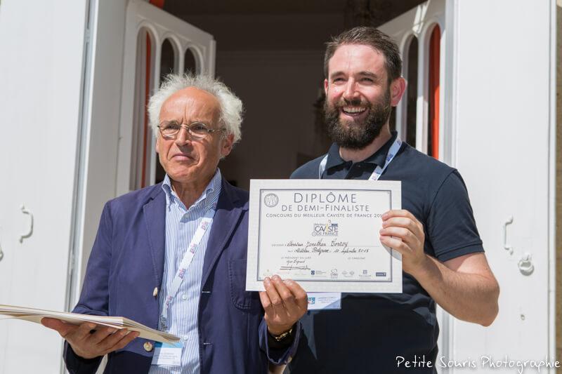Demi finale Concours Meilleur Caviste de France 2018 Ag Yves Legrand président, Ad Jonathan CONROY : Conroy vins et spiritueux – 74700 Sallanches