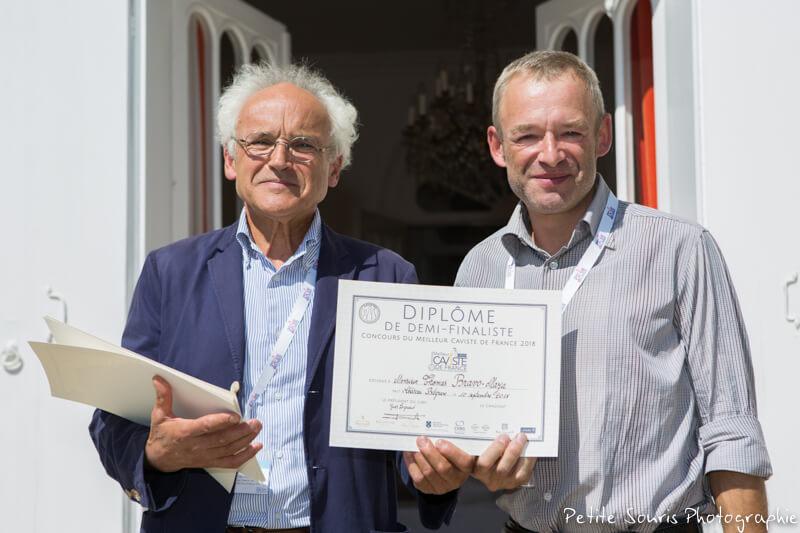 Demi finale Concours Meilleur Caviste de France 2018 Ag Yves Legrand président, Ad Thomas BRAVO-MAZA :  Divins – 75001 Paris