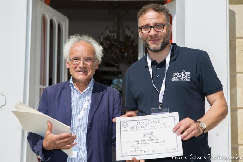 Demi finale Concours Meilleur Caviste de France 2018 Ag Yves Legrand président, Ad Marco BERTOSSI : La Dolia – 34170 Castelnau le Lez