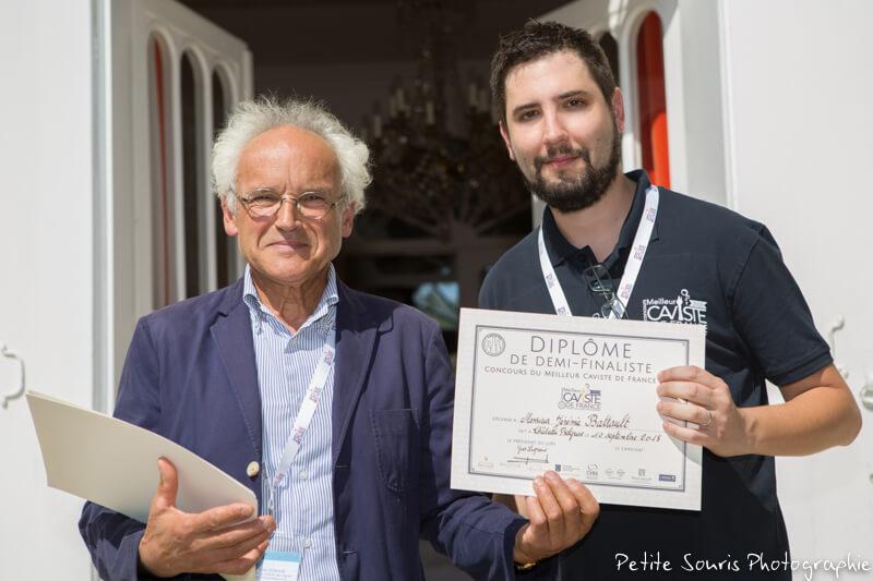 Demi finale Concours Meilleur Caviste de France 2018 Ag Yves Legrand président, Ad Jérémie BATTAULT : Cave Nicolas – 63000 Clermont-Ferrand