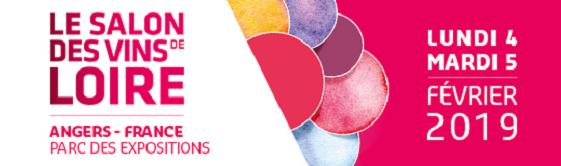 Bannière du Salon des vins de Loire d'Angers février 2019