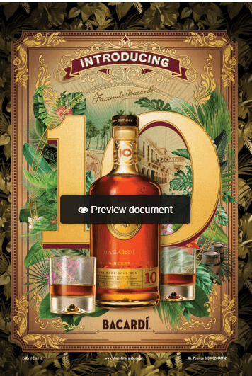 Introducing Bacardi Gran reserva rhum diez