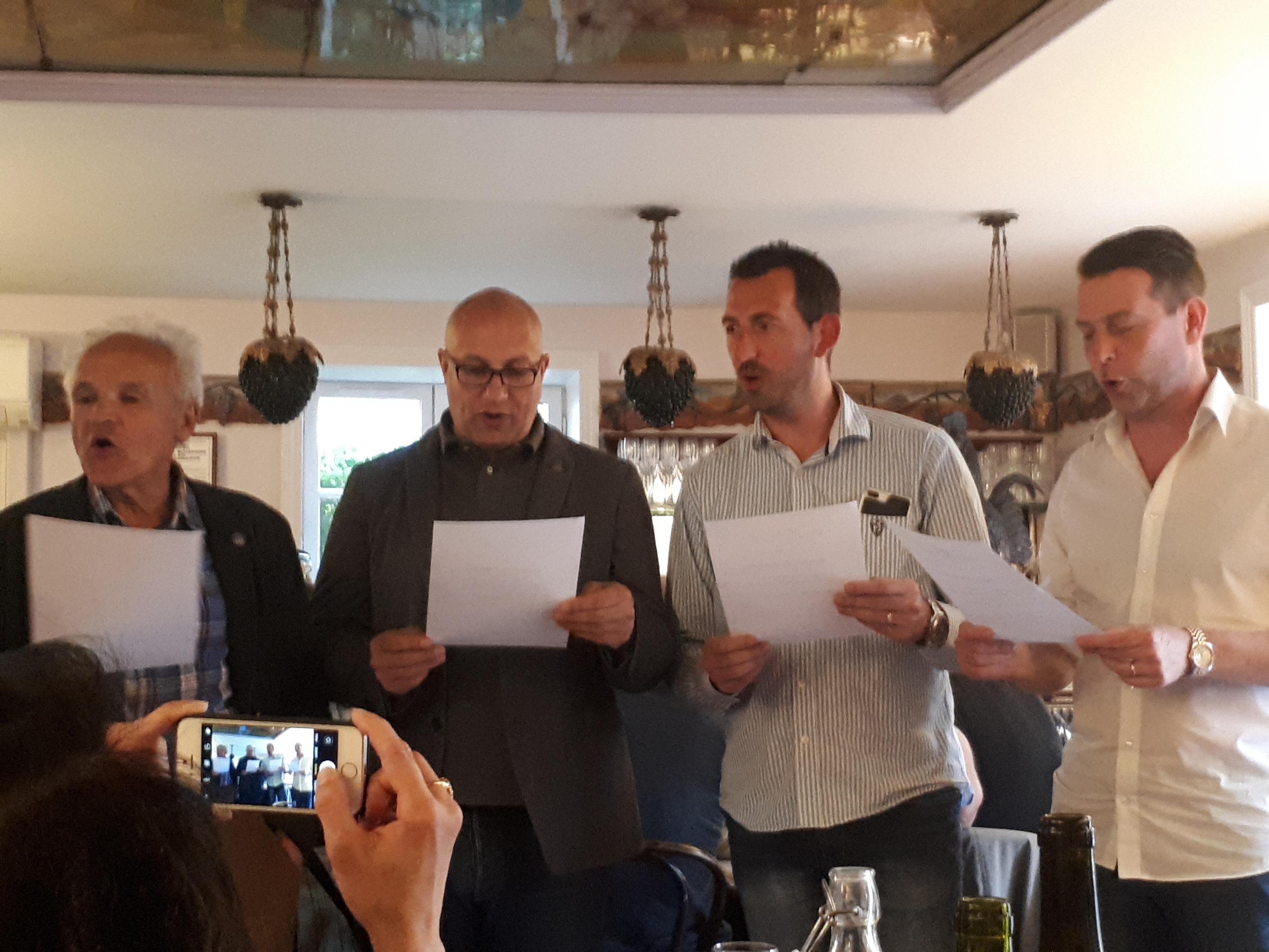 Intronisation confrerie Juliénas des champions cavistes et de Yves Legrand
