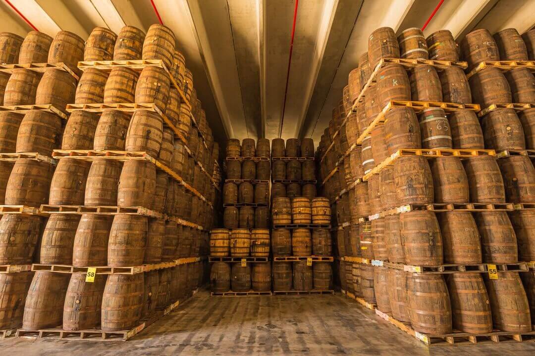 2019_Bacardi_PuertoRico_HistoricalTour_BarrelWarehouse_Stacks