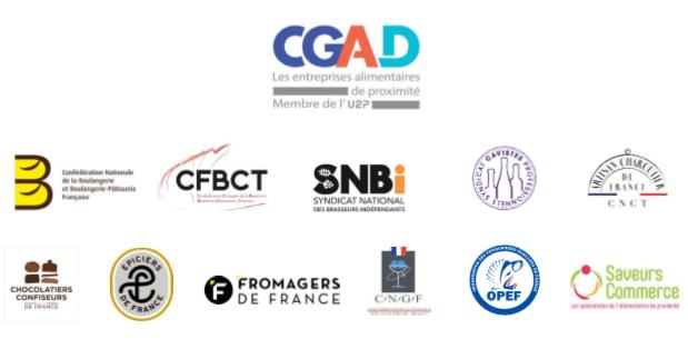 Logos CGAD et commerces proximité spécialisés