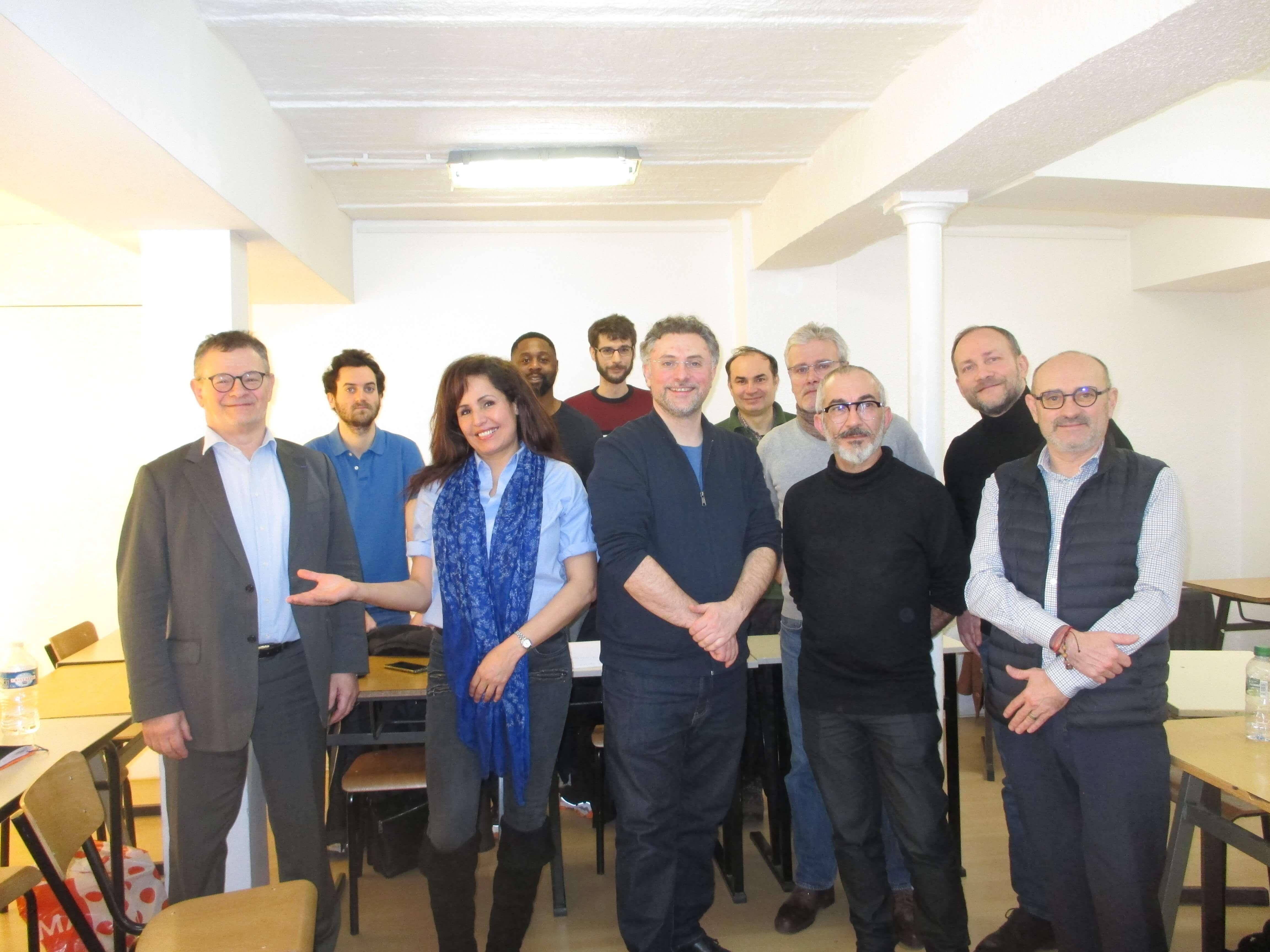 Les stagiaires de la 1ère Session POEC d'Aide-caviste et leurs formateurs (2020).