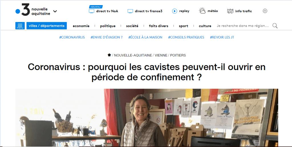 France 3 Nouvelle Aquitaine 3 avril 2020 (cliquer)