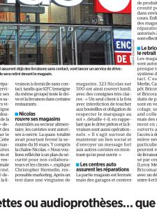 Le Parisien 7 avril 2020