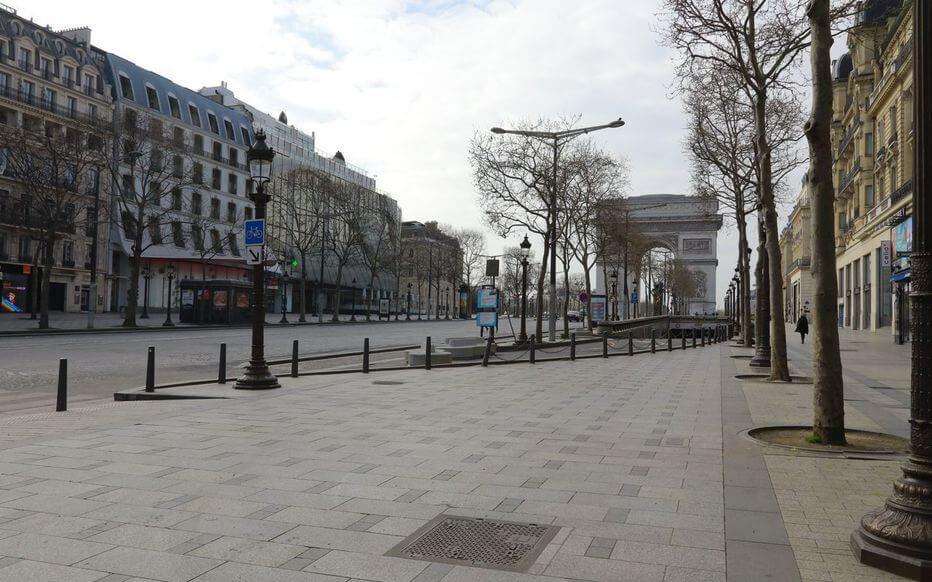 Paris ville deserte covid 2020