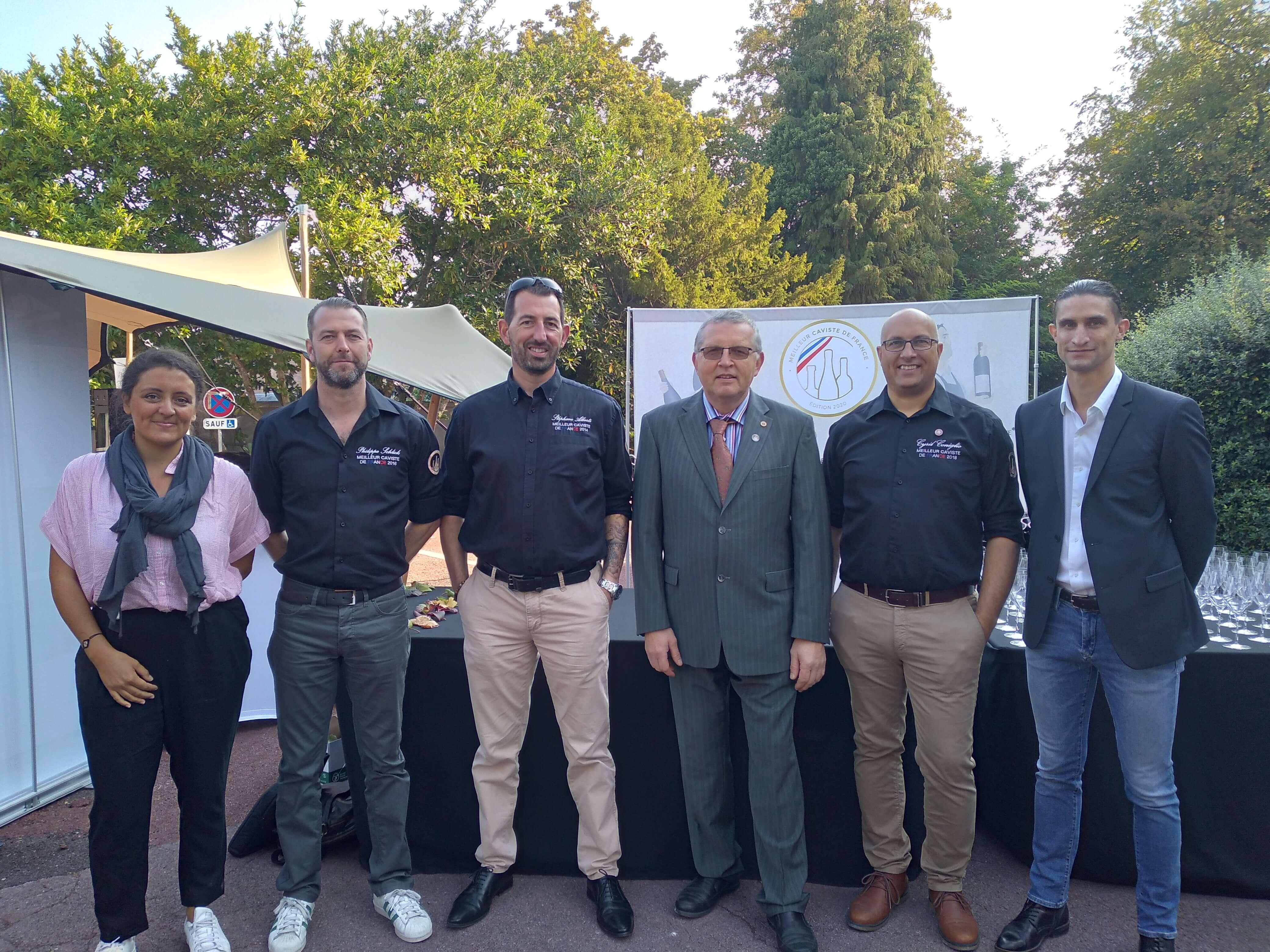 Les membres du jury de l'épreuve du 14 septembre 2020. De g à d, L Bernault, P. SChlick, S. Alberti, P. Jourdain, C. Coniglio, P. Cousin