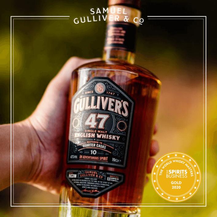 Gulliver's 47 English Single Malt Whisky 10 year old
